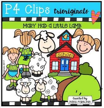 Mary Had a Little Lamb (P4 Clips Trioriginals Clip Art)
