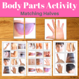 Body Parts Activity - Matching Picture Halves