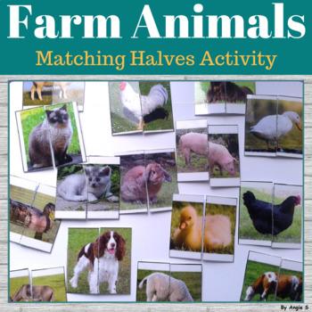 Matching Halves- Farm Animals