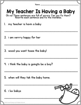 Maternity Leave Sub Plans 1st Grade **LIMITED TIME SALE PRICING**
