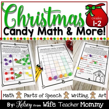 Christmas Gumdrop Math Activities & More for 1st and 2nd Grade