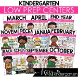 Low Prep Kindergarten Math & Literacy Centers Year Long Bundle