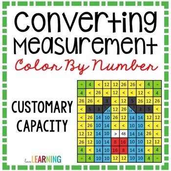 Measurement Capacity Conversions Color By Number Mystery Picture