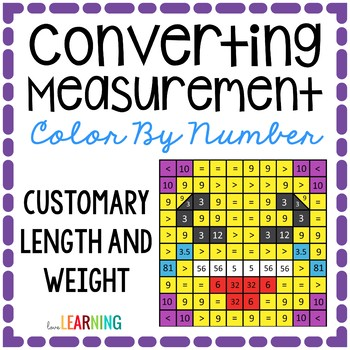 Measurement: Customary Conversions Color By Number Mystery Picture