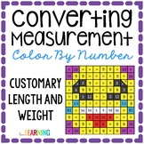 Measurement: Customary Conversions Color By Number Mystery
