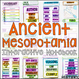 Ancient Mesopotamia Interactive Notebook and Graphic Organizers