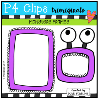 Monsters Frames (P4 Clips Trioriginals Clip Art)