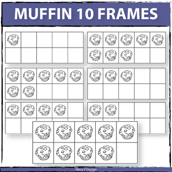 Muffin 10 Frames Clip Art