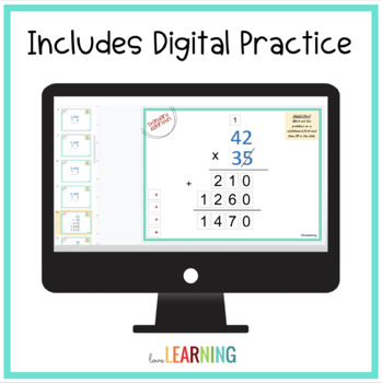 Multiplying Multi-Digit Whole Numbers Bundle with Interactive Notes
