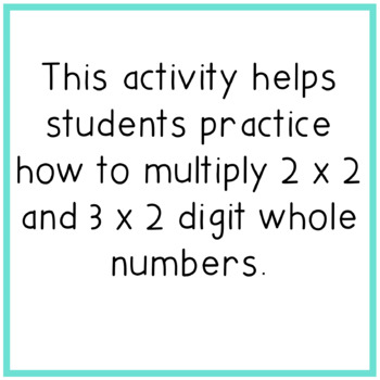 Multiplying Multi-Digit Whole Numbers Color By Number