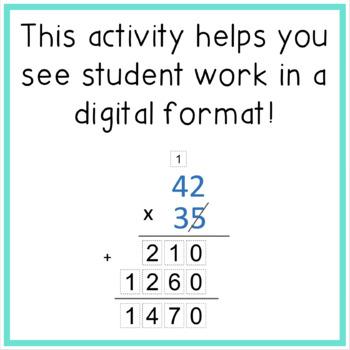 Multiplying Whole Numbers Digital Practice