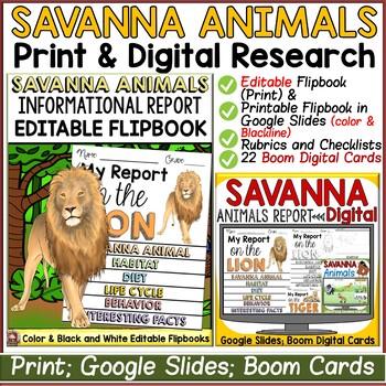 SAVANNAH ANIMALS: INFORMATIONAL REPORT WRITING