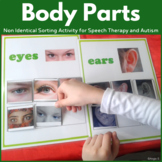 Non Identical Body Parts Sorting Activity for Autism and Special Ed