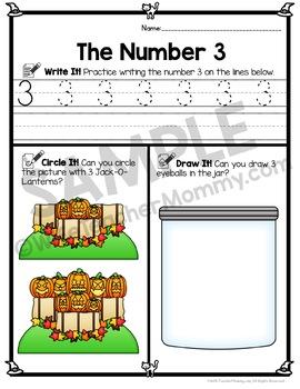 Halloween Number Worksheets 0-20 (Counting Worksheets)