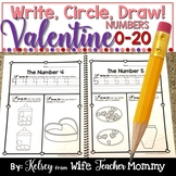 Number Worksheets 0-20 (Counting Worksheets) Write, Circle, Draw!