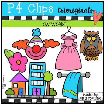 OW Words (P4 Clips Trioriginals Clip Art)
