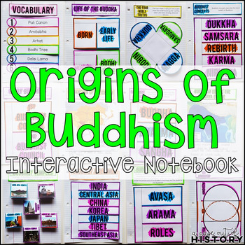 Origins of Buddhism Interactive Notebook and Graphic Organizers