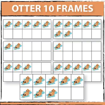 Otter 10 Frames Clip Art
