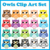Back to School Owl Clipart Set