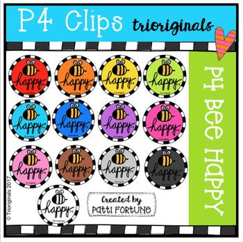 P4 BEE Happy (P4 Clips Trioriginals Clip Art)