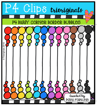 {DAY 21 FREEBIE} P4 BIGGY Corner Borders Bubbles (P4 Clips Trioriginals)