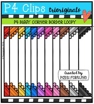 P4 BIGGY Corner Borders Loopy (P4 Clips Trioriginals)