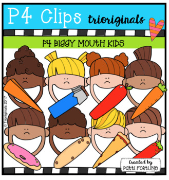 P4 BIGGY MOUTH Kids (P4 Clips Trioriginals Clip Art)