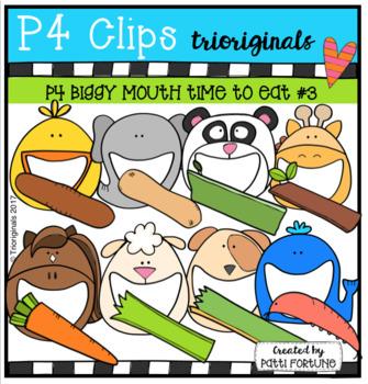P4 BIGGY MOUTH Time to Eat #3 (P4 Clips Trioriginals Clip Art)