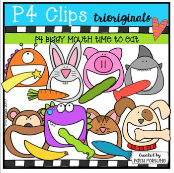 P4 BIGGY MOUTH Time to Eat (P4 Clips Trioriginals Clip Art)