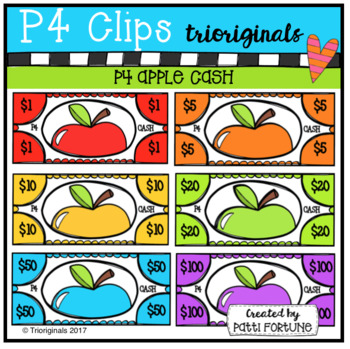 P4 CASH Apples (P4 Clips Trioriginals Clip Art)