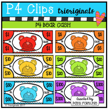 P4 CASH Bears (P4 Clips Trioriginals Clip Art)