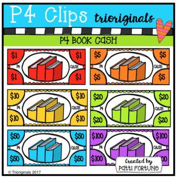 P4 CASH Books (P4 Clips Trioriginals Clip Art)