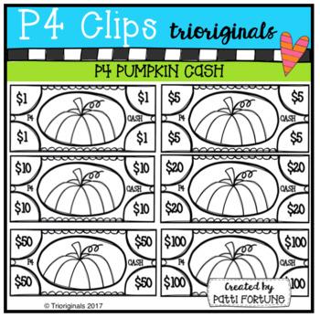 P4 CASH Pumpkins (P4 Clips Trioriginals Clip Art)
