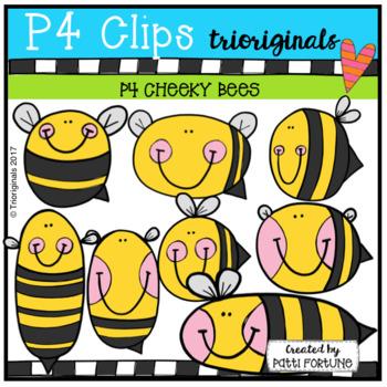 P4 CHEEKY Bees (P4 Clips Trioriginals Clip Art)