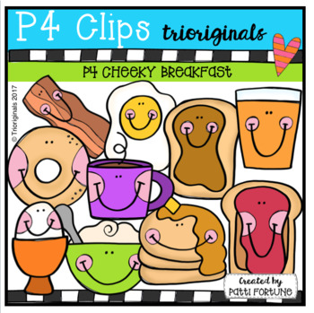 P4 CHEEKY Breakfast (P4 Clips Trioriginals Clip Art)
