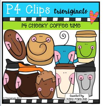 P4 CHEEKY COFFEE TIME (P4 Clips Trioriginals Clip Art)