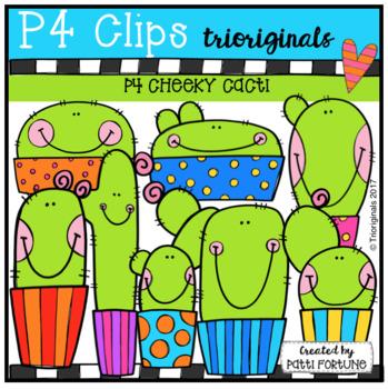 P4 CHEEKY Cactus (P4 Clips Trioriginals Clip Art)