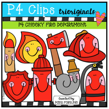 P4 CHEEKY Fire Department (P4 Clips Trioriginals Clip Art)