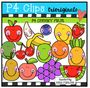 P4 CHEEKY Fruit (P4 Clips Trioriginals Clip Art)