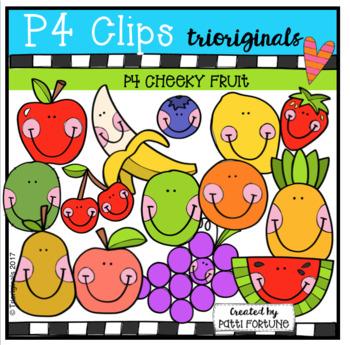 P4 CHEEKY Fruit (P4 Clips Trioriginals Clip Art)