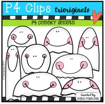 P4 CHEEKY Ghosts (P4 Clips Trioriginals Clip Art)
