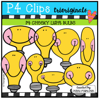 P4 CHEEKY Light Bulbs (P4 Clips Trioriginals Clip Art)