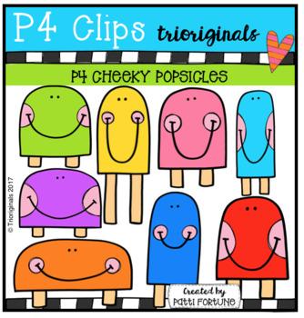 P4 CHEEKY Popsicles (P4 Clips Trioriginals Clip Art)