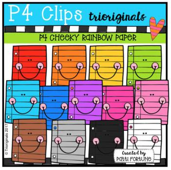 P4 CHEEKY RAINBOW Paper (P4 Clips Trioriginals Clip Art)