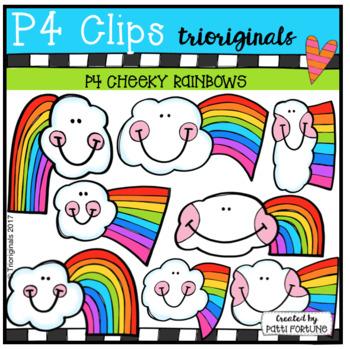 P4 CHEEKY Rainbows (P4 Clips Trioriginals Clip Art)