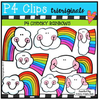 P4 CHEEKY Rainbows (P4 Clips Trioriginals Clip Art)