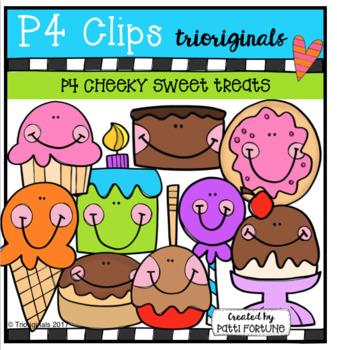 P4 CHEEKY SWEET TREATS (P4 Clips Trioriginals Clip Art)