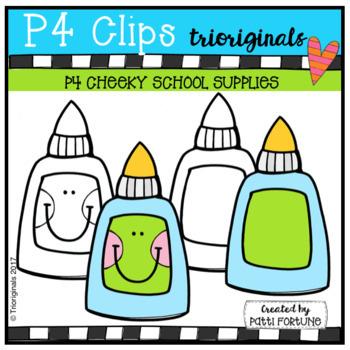 P4 CHEEKY School Supplies (P4 Clips Trioriginals Clip Art)