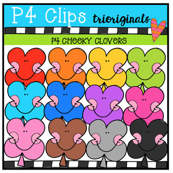 P4 CHEEKY Shamrocks (P4 Clips Trioriginals Clip Art)