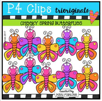 P4 CHEEKY Spring Butterflies (P4 Clips Trioriginals Clip Art)